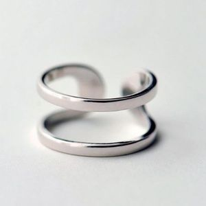 Jewelry - Sterling Silver Double Smooth Open Ring